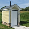 kit composting toilet building at Hershey Links