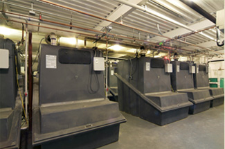 Commercial composting tanks at Bronx Zoo Eco-restroom