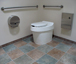 Clivus waterless toilet