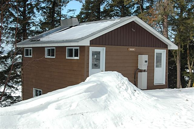 Clivus Multrum composting toilets save thousands of gallons of water at the Horshoe Lodge at MPEC